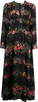 RED Valentino Floral Flounces print V-neck dress