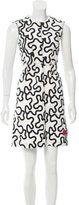 J.W.Anderson Swirl Printed Mini Dress
