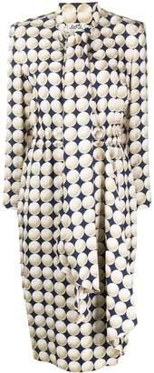 Hermes Pre Owned 1990s silk Balle De Gold dress