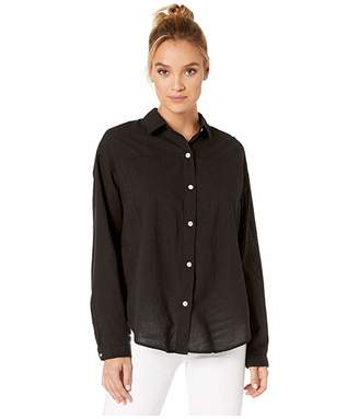 Hurley Wilson Shadow Dolman Long Sleeve (Black) Women's Clothing