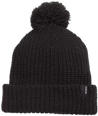 Hurley Lydia Pom Beanie (Black) Caps