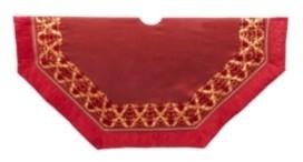 Kurt Adler 54-Inch Burgundy Patchwork Tree Skirt