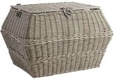Pier 1 Imports Collin Gray Wicker Rectangular Storage Basket