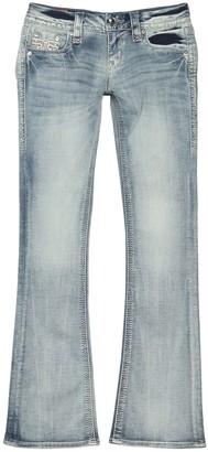Rock Revival Rhinestone Embellished Fade Boot Cut Jeans