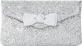 Dune Breya glitter-embellished envelope clutch