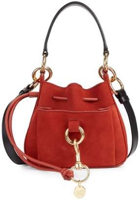 See by Chloe Mini Tony Suede Bucket Bag
