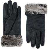 Accessorize Faux Fur Trimmed Leather Gloves