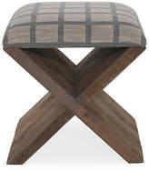 Brownstone Upholstery X-Base Twill Ottoman - Blue/Beige