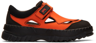 KIKO KOSTADINOV Orange and Black Camper Edition Teix Sneakers