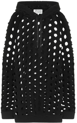 Maison Margiela Perforated cotton hoodie