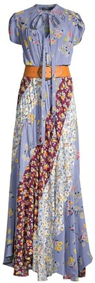 Polo Ralph Lauren Patchwork Silk Maxi Dress