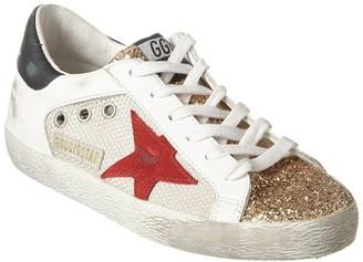 Golden Goose Superstar Leather & Glitter Sneaker