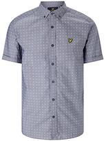 Lyle & Scott Square Dot Short Sleeve Shirt, Navy