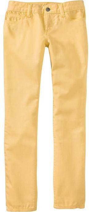 Old Navy Girls Super Skinny Pop-Color Jeans