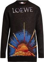 Loewe Sunrise jacquard-knit wool-blend sweater