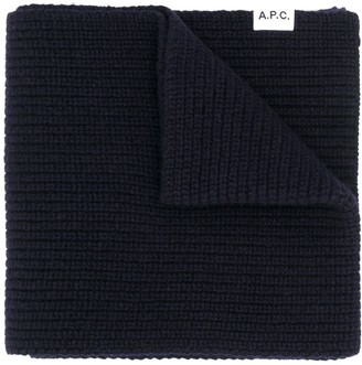 A.P.C. cable knit scarf