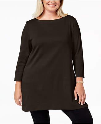 Karen Scott Plus Size Cotton Tunic Top