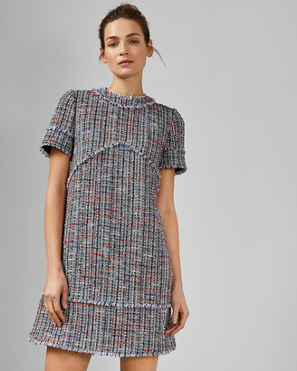 Ted Baker YULITED Cotton boucle tunic dress