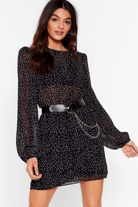 Nasty Gal Womens Spot a Day Goes By Ruched Mini Dress - Black - S