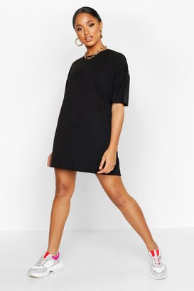 boohoo Oversized Crew Neck T-Shirt Dress