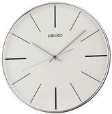 Seiko Silver Tone Quiet Sweep Wall Clock Qxa634Alh