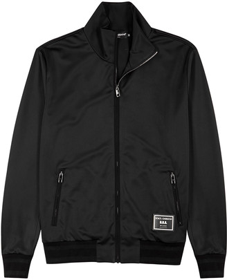 Dolce & Gabbana Black satin-jersey track jacket