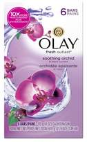 Olay Fresh Outlast Soothing Orchid & Black Currant 6-Bar Soap - 24oz