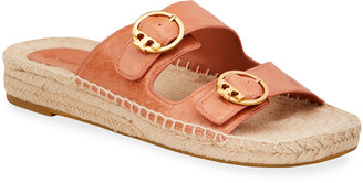 Tory Burch Selby Double-Buckle Espadrille Flat Sandals
