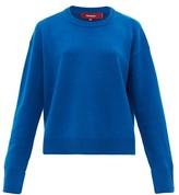 Sies Marjan Pardis Crew-neck Wool-blend Sweater - Womens - Blue