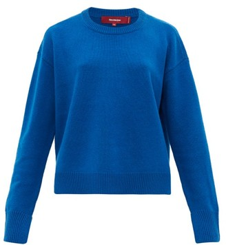 Sies Marjan Pardis Crew-neck Wool-blend Sweater - Blue