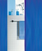 Spirella Switzerland Spirella Twill Electric Blue Shower Curtain PVC Plastic 120x200cm.