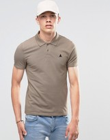 Asos Muscle Pique Polo Shirt With Logo In Brown