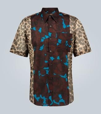 Dries Van Noten Contrast-printed shirt
