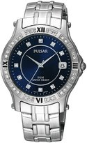 Pulsar Men's Swarovski Crystal Stainless Steel