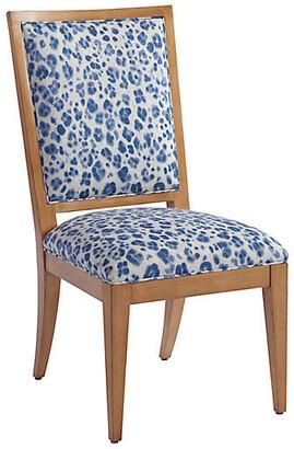 Barclay Butera Eastbluff Side Chair - Blue/Ivory Linen
