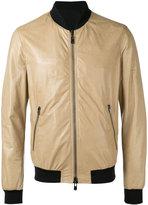 Drome panel bomber jacket - men - Lamb Skin/Polyamide/Polyester/Spandex/Elastane - M