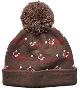 San Diego Hat Company Children's Fox Knit Cap with Pom Pom KNK3522