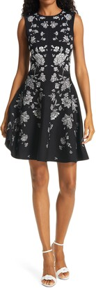 Ted Baker Naomyy Floral Jacquard Fit & Flare Dress