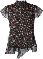 Kolor floral high low hem blouse