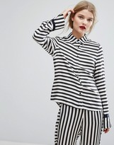 Gestuz Aggie Stripe Satin Shirt