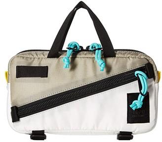 Topo Designs Mini Quick Pack (Silver/White) Cross Body Handbags