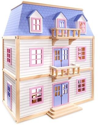 Melissa & Doug Multilevel Wooden Dollhouse