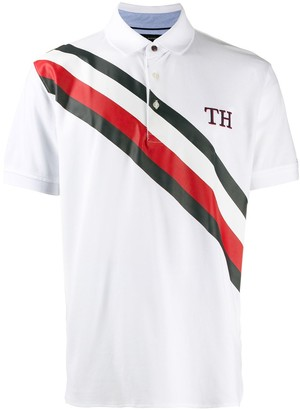 Tommy Hilfiger TH stripe polo shirt