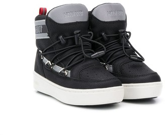 MOON BOOT KIDS Logo Tape High-Top Sneakers