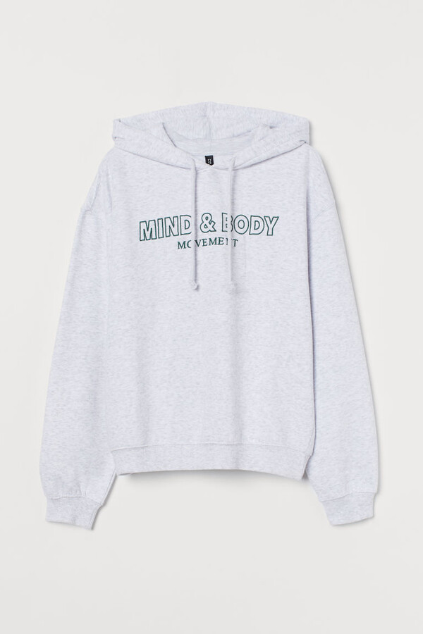 Thumbnail for your product : H&M Graphic-design Hoodie - Gray