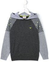 Armani Junior logo print hoodie