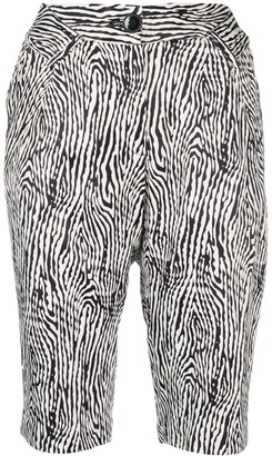 Almaz High-Waisted Animal-Print Shorts