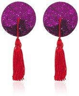 Circular Nipple Covers, TwoS Sexy Silicone Bling Sequins Circular Shape Tassel