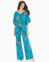 Soma Intimates Crepe De Chine Short Sleeve Chiffon Pajama Set