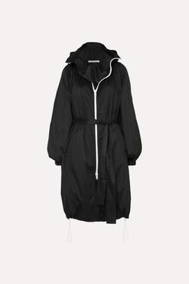 Givenchy Hooded Printed Shell Coat - Black